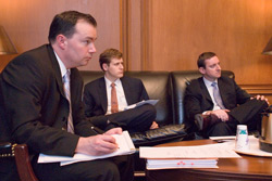 Mike Lee with fellow law clerks to  Justice Alito